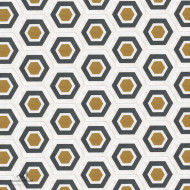 HEXAGON GREY & YELLOW CEMENT TILES