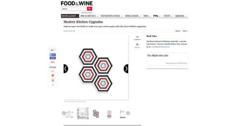 Our Burgundy Hexagon cement tiles