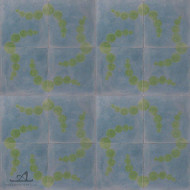BUBBLES BLUE CEMENT TILES