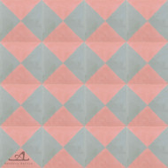 CHECKERS PINK CEMENT TILES