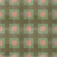 CORNER SQUARE GREEN CEMENT TILES