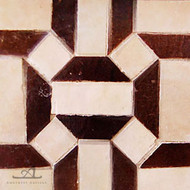 GEO HEX BROWN & BEIGE MOSAIC TILE