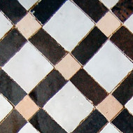 FEZ BROWN & WHITE MOSAIC TILE