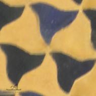 PINWHEELS BLUE & NATURAL MOSAIC TILE