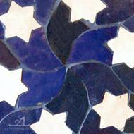 STARS BLUE MOSAIC TILE