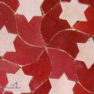 STARS RED MOSAIC TILE