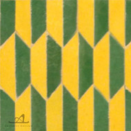 HEXAGON YELLOW & GREEN MOSAIC TILE