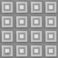 CENTER SQUARE CHARCOAL CEMENT TILES
