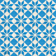 SNOWFLAKE BLUE CEMENT TILE