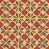 SNOWFLAKE RUST CEMENT TILE