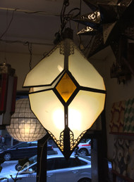 FROSTED AMBER DIAMOND LAMP