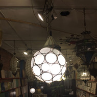 FROSTED ORB LAMP