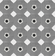MARGUERITE GREY CEMENT TILES