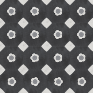 MARGUERITE BLACK CEMENT TILES