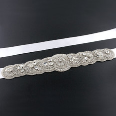 GIAVAN Scalloped Art Deco Bridal Sash BL56