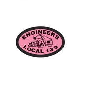 Local 139 Pink Oval Decal
