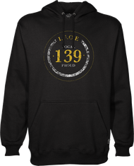 Men's Typographical Hooded Sweatshirt