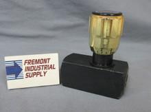"(Qty of 1) Inline hydraulic needle valve 3/8"" NPT 5000 PSI"