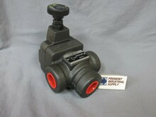 "(Qty of 1) Inline hydraulic pressure reducing valve 3/4"" NPT 1000-3000 PSI adjustment range FREE SHIPPING"