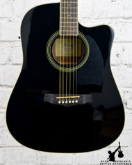 Ibanez PF Series PF15ECE Dreadnought Cutaway Acoustic-Electric Gloss Black