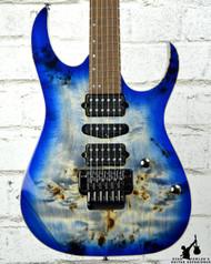 Ibanez RG1070PBZ Premium Cerulean Blue Burst Electric Guitar w/ Case