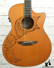 Luna OCL Tat Oracle Grand Concert Tattoo Acoustic Electric