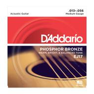 D'Addario EJ17 Acous Phos Bronze .012-.056 Med