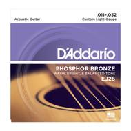 D'Addario EJ26 Acous Phos Bronze .011-.052 Cst Light