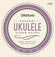 D'addario EJ65C Concert Ukulele Clear Nylon Strings