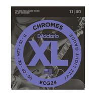 D'Addario ECG24 Chromes .011-.050 Jazz Light