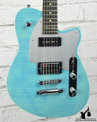 Reverend Double Agent OG 20th Anniversary Sky Blue Flame Maple (#28886)