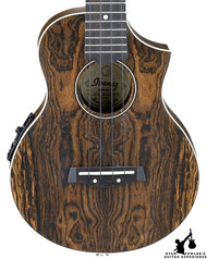 Ibanez UEW13E Exotic Wood Concert Acoustic Electric Ukulele Open Pore Natural