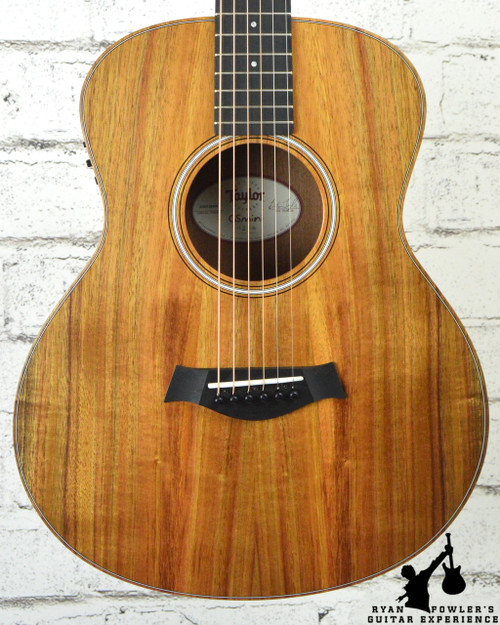 taylor gs mini e koa natural w bag ryan fowler 39 s guitar experience. Black Bedroom Furniture Sets. Home Design Ideas
