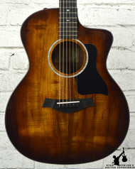Taylor 224ce-K DLX Shaded Edgeburst, Layered Koa Back and Sides