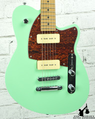 Reverend Charger 290 Oceanside Green with Roasted Maple Neck