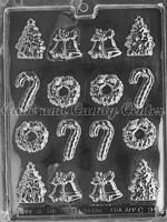 Christmas Bite Size Assortment Candy Mold