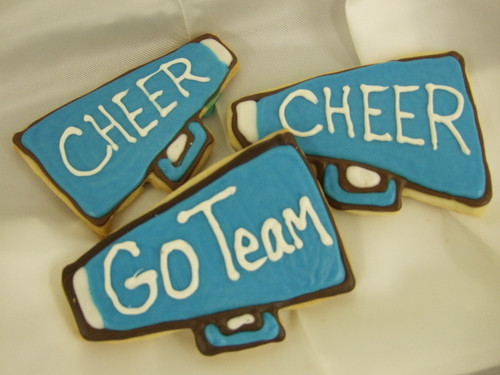 Our famous and delicious butter cookies are simply irresistible. Cheer on your favorite team today by bringing some megaphone cookies along for the victory party!  Special colors available upon request call 330/467-8728 or use the special instructions box when ordering.  Special instructions can have additional charges.
