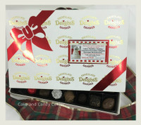 This assortment represents our very best selection of fine chocolates in one collection.  Featuring whole nut clusters, creams, caramels, cherry cordials, and more in pure milk and dark chocolate, this signature offering comes gift wrapped for all of your gift giving needs. We can add your business card to the top of our own custom printed box making this an excellent corporate presentation for your customers!  Call for details 330/467-8728