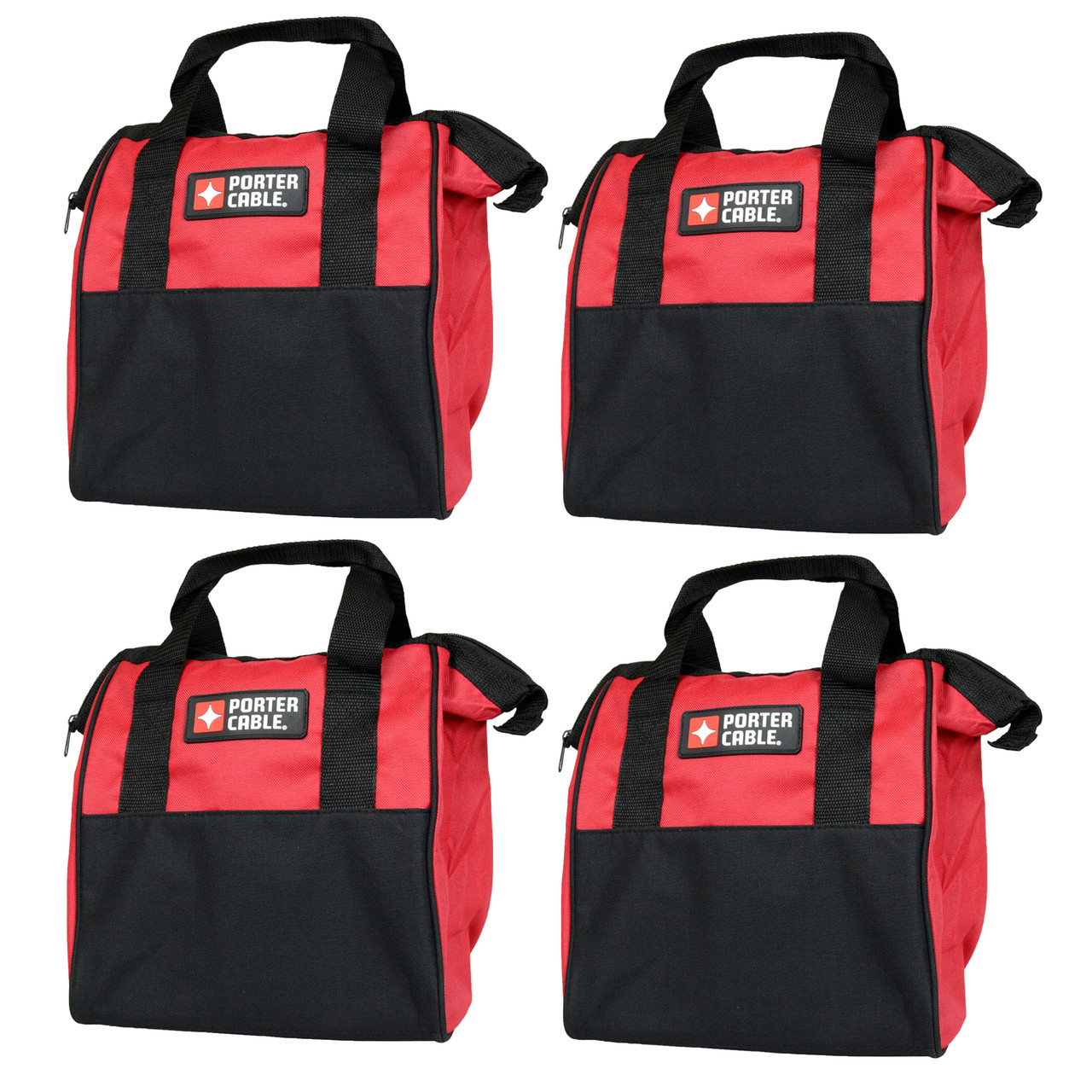 Porter Cable 10 Quot Red Soft Sided Durable Tool Bag 4 Pack