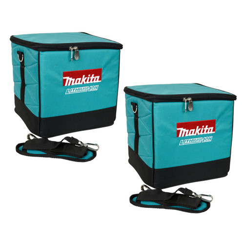 "Makita Tools 10"" Square Teal Tool Bag or Lunch Tote - 2 Pack"