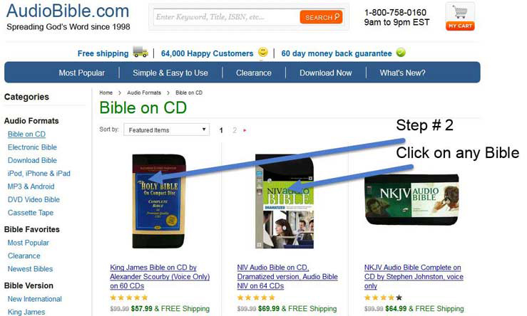 3 easy steps to listen to audio samples of every Bible
