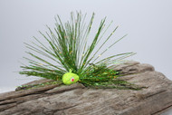 Chartreuse Glitter Jig Head with a Chartreuse Spring Green Tinsel Mix
