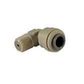 """Hydronamic SS Check Valve Insert in Gray JG Fixed Elbow Fitting 1/4"""" Tubing x 1/4"""" MPT (SCV-PI480822S)"""