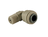 """Hydronamic SS Check Valve Insert in White JG Fixed Elbow Fitting 1/4"""" Tubing x 1/8"""" MPT (SCV-PI480821W)"""