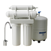CWW Series 4 Stage RO Systems with 50 GPD TFC Membrane, 4 Gallon Tank, Faucet & Accessories 3/8""