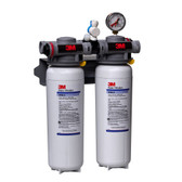 ICE260-S 0.2 Micron Dual Water Filtration System with Valve-in-Heads for Ice Machine (5624503)