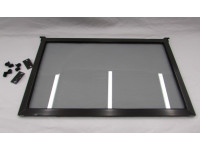 Gray tinted flip up 24 inch window