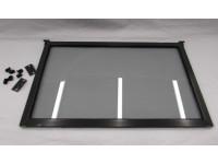 Gray tinted flip up 27 inch window