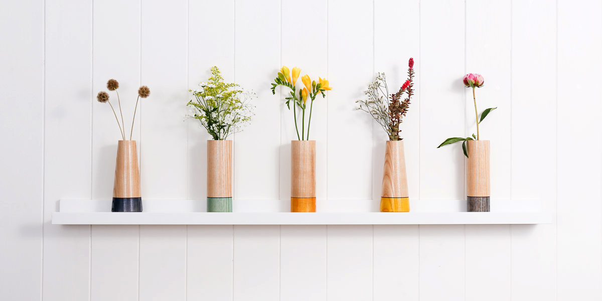 Wood Stem Vase