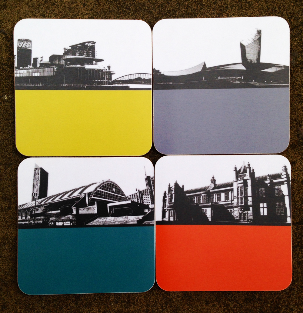 Lowry Gallery design coaster by Jacky Al-Samarraie
